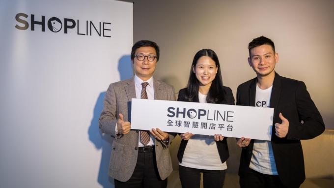 ▲ (左至右)開發創新基金總經理郭大經、SHOPLINE營運長劉煦怡、執行長黃浩昌出席SHOPLINE新一輪資金到位記者會。(圖:開發金控提供)