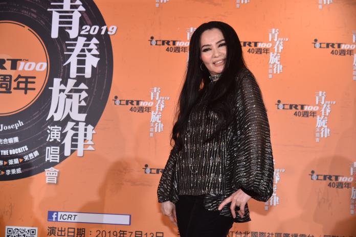 潘越雲出席ICRT 40周年暨青春旋律演唱會記者會 。(圖/記者林柏年攝,2019.03.05)