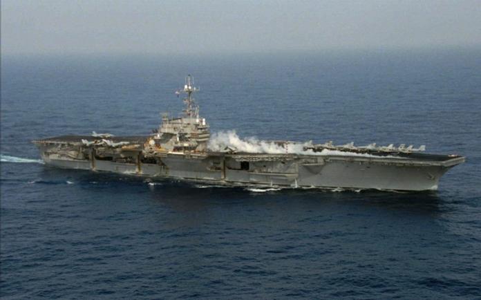 軍武》AIT貼美航艦台海巡弋照 外島老兵想起寫遺書備戰