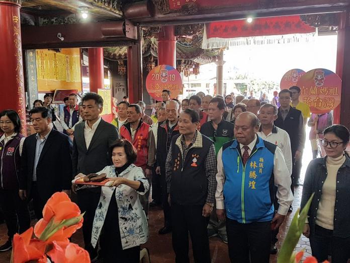 宜蘭首度舉辦媽祖文化節 林姿妙擲筊選定八月八日起駕