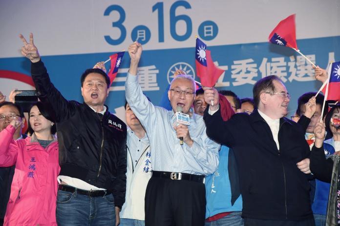 ▲國民黨主席吳敦義說,4席立委補選一定要贏下來,2020年國民黨才有機會重返執政、撥亂反正。 (圖 / 記者陳明安攝2019.3.15)