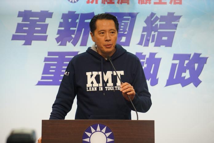 ▲國民黨發言人歐陽龍就316立委補選結果發表談話。(圖/記者呂炯昌攝, 2019.3.16)