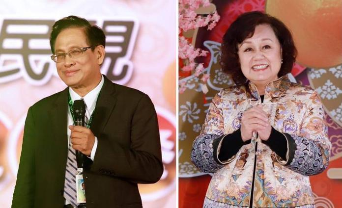 ▲民視鬧家變,郭倍宏(左)和王明玉立場對立。(圖/資料照)
