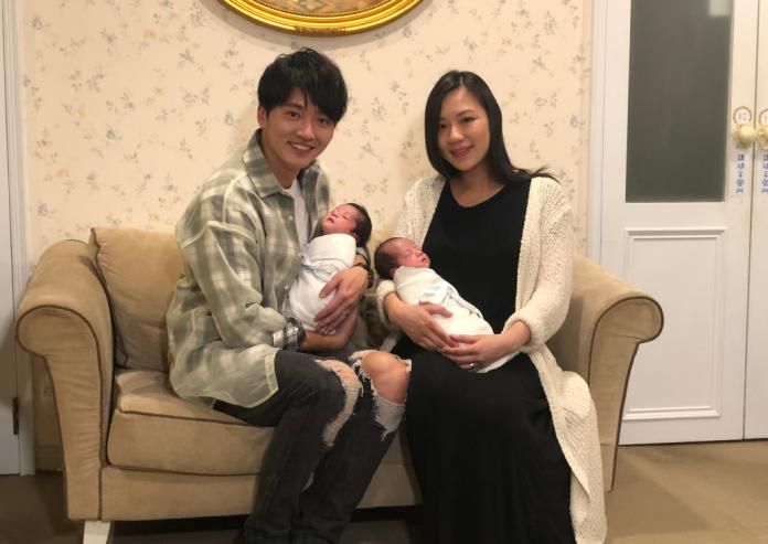 馬俊麟攜雙胞胎愛子亮相 搶喝3滴母奶「好奇妙」