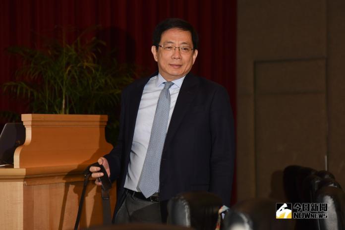 管中閔出席校務會議。(圖/記者陳明安攝,2019.03.23)