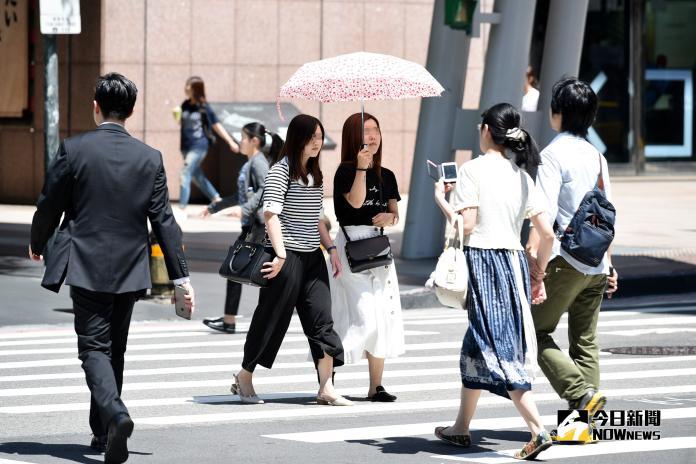 ▲今( 28 )日全台各地天氣穩定,台北市於下午 13:31 測得 32.9 度,創今年以來最高溫度。(圖/NOWnews資料圖片)