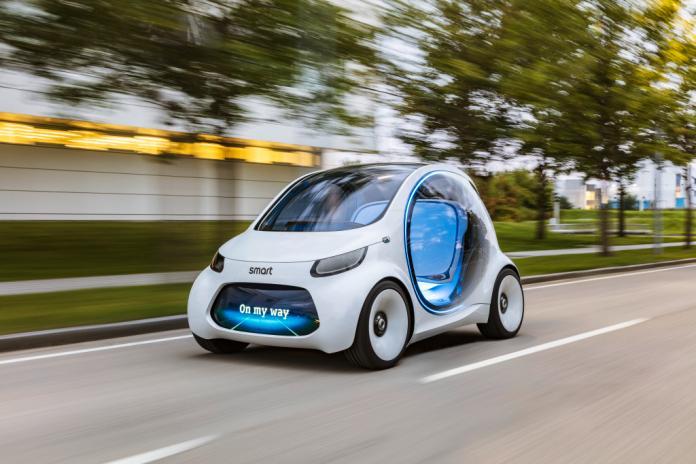 Autonomes Konzeptfahrzeug smart vision EQ fortwo: So sieht das Carsharing der Zukunft ausAutonomous concept car smart vision EQ fortwo: Welcome to the future of car sharing