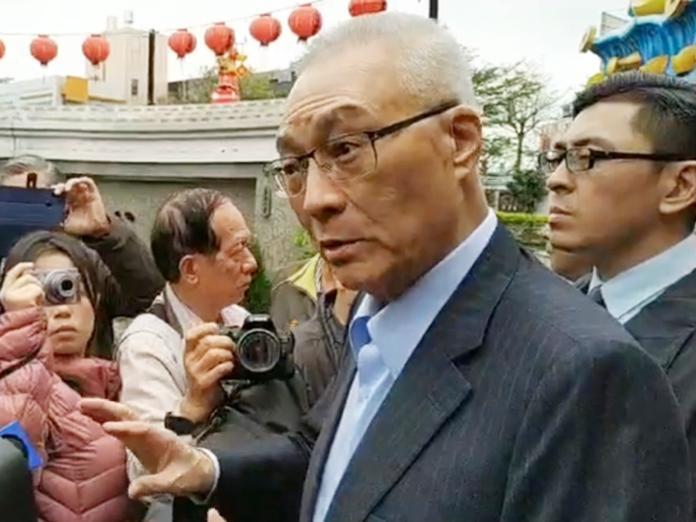 國民黨主席吳敦義1日受訪表示,他已經與韓國瑜有一點默契,雙方將在4月10日之前碰頭。(圖 / 國民黨提供)