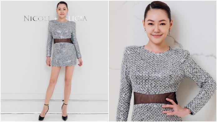 ▲Nicole + Felicia 高級訂製禮服超美,讓小 S 即使淡妝也散發自信光芒。(圖/Nicole + Felicia提供)