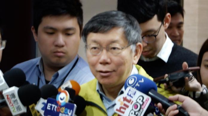 台北市長柯文哲。(圖 / 記者陳弘志攝,2019.04.02)