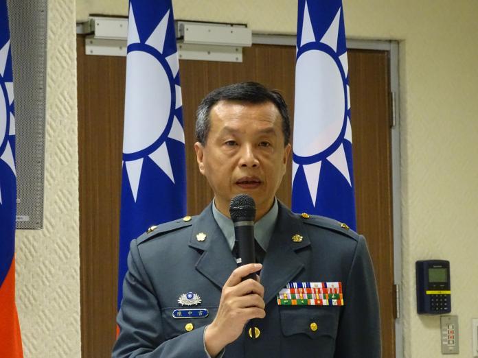 ▲國防部發言人陳中吉。(圖/記者呂炯昌攝, 2019.4.9)