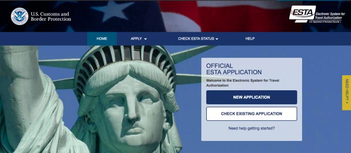 ▲申請美國「旅行授權電子系統」(ESTA)官方網站。(圖/翻攝自ESTA官網)
