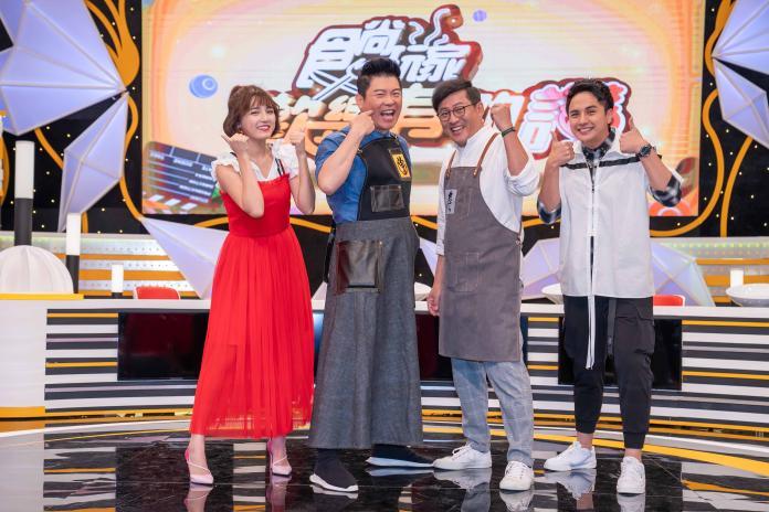 TVBS歡樂台《食尚玩家-歡樂有夠讚》(左起)Dora、曾國城、「食尚主廚」詹姆士、曾子余 (1)