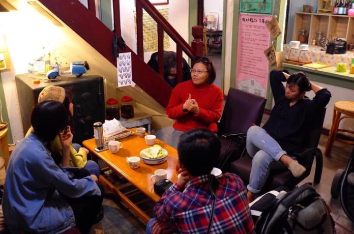 和「我愛溪州」團隊成員對談 (初聲/黃梓恩攝)