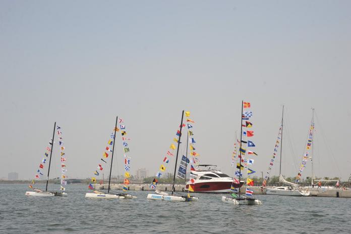 ▲2019大鵬灣遊艇帆船系列活動首度重型帆船展示全鑑飾登場。(圖/鵬管處提供)