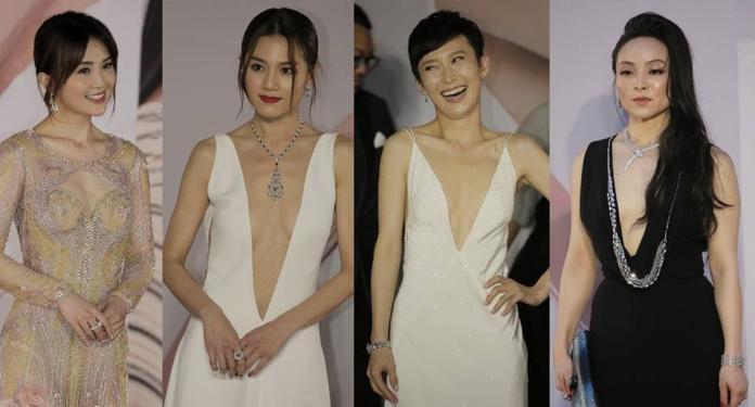 圖/「中門大開」到肚臍 香港金像獎盯看女星「露半球」
