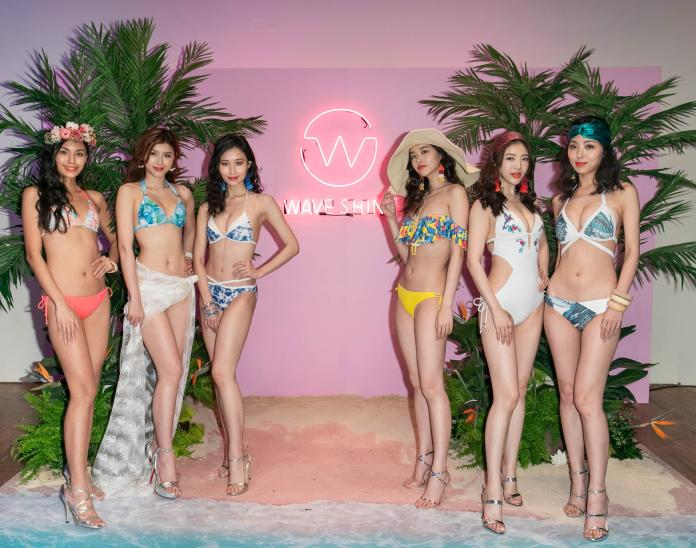 ▲凱渥模特兒呈現 2019 春夏泳裝新品─陽光沙灘風格。(圖/WAVE SHINE提供)