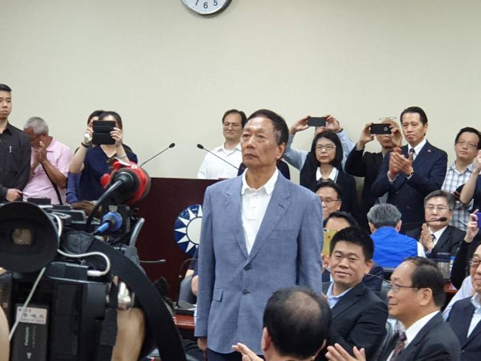 ▲鴻海董事長郭台銘宣布投入國民黨總統初選。(圖/記者許家禎攝, 2019.4.17)
