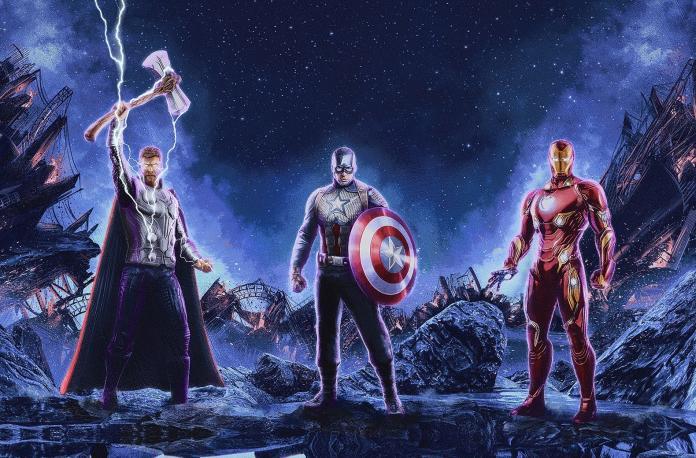 ▲(左起)雷神、鋼鐵人、美國隊長真會在這一集壯烈犧牲嗎?(劇照)