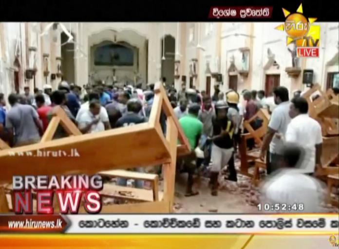 斯里蘭卡教堂、飯店連環爆 滿地鮮血如人間煉獄