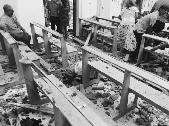 ▲斯里蘭卡發生爆炸案。(圖/翻攝自推特)