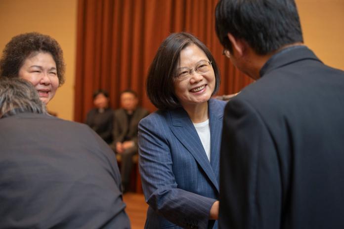 蔡英文總統26日接見台灣基督長老教會牧師。( 圖 / 總統府提供 )