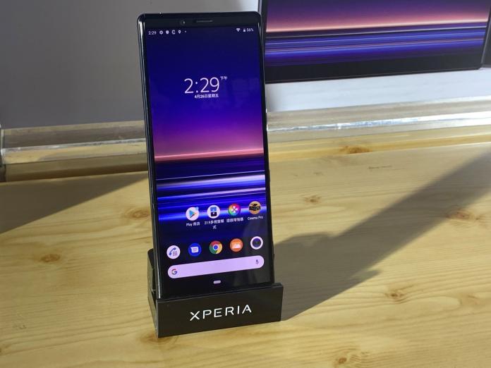 <br> ▲今(26)日 Sony Mobile 在台發表的 Xperia 1,是全球首款採 21:9 CinemaWide 4K HDR OLED 螢幕的手機。(圖/記者劉士成攝 , 2019.04.26)