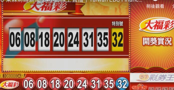 ▲最後一期大福彩4月27日開獎了,頭獎上看3.8億元。(圖/擷取自東森財經新聞)