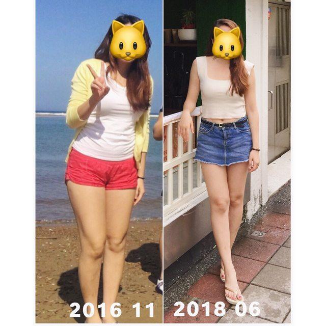 <br> ▲女網友分享自己長期以來的健身成果,並附上前後對比照,雖然體重只少了 1 公斤,體態卻相差甚遠。(圖/翻攝自 PTT )