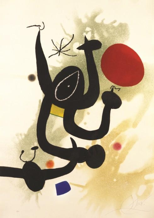 ▲《蛇影》(The Serpentine),Joan Mirò,1978 年。(圖/BVLGARI提供)