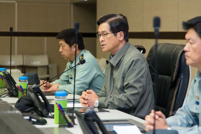 ▲ 國防部長嚴德發要求各部隊訓練「從嚴、從難、從實」。(軍聞社記者周昇煒攝)