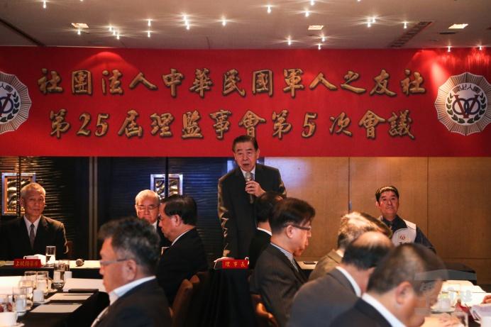 ▲ 中華民國軍人之友社舉行第25屆理、監事會第5次會議,定期說明工作執行概況。(軍聞社記者謝宏檜攝)