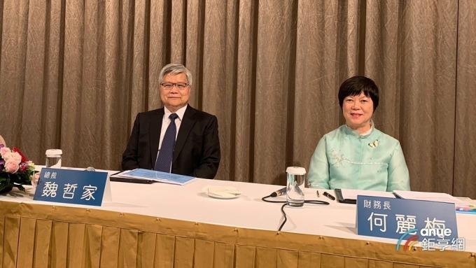 ▲ 台積電總裁魏哲家(左)。(鉅亨網記者蔡宗憲攝)
