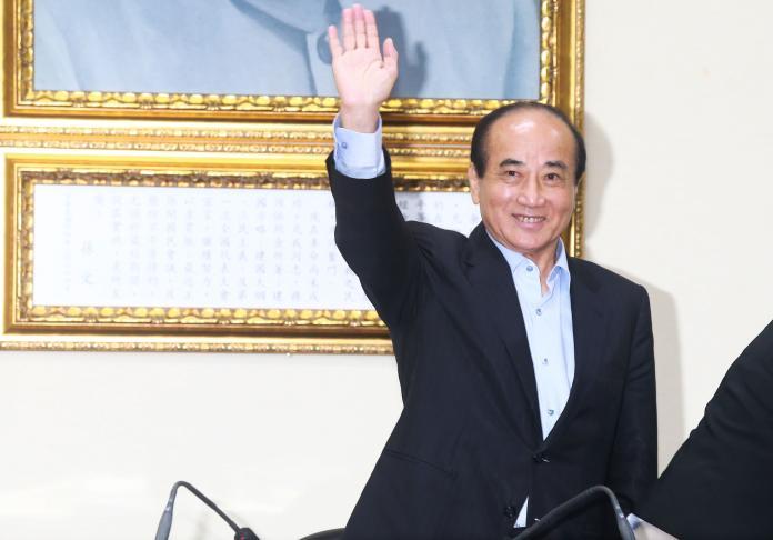 ▲前立法院長王金平前往國民黨中央黨部與黨主席吳敦義會