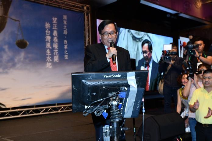 前總統陳水扁表示,丁守中提選舉無效官司敗訴不意外。(圖/記者葉政勳攝影)