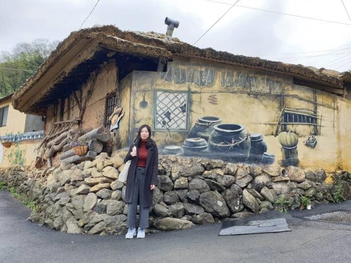 ▲近來韓國流行許多網美打卡的壁畫村,像是大邱的馬飛亭壁畫村就因為《Running Man》而聲名大噪。(圖/記者許家禎攝,2019.4.26)