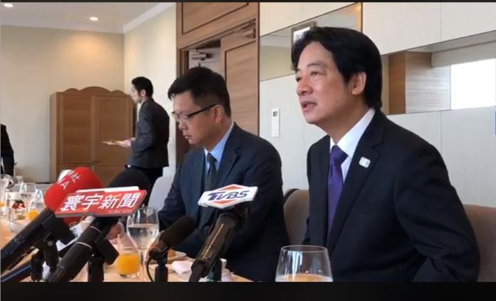 前行政院長賴清德巷12日與媒體茶時表示,此 訪日成果超乎預期,他強調,日本已進入令和新時代,希望台日友好關係也能隨之進入新的階段。(圖/翻自賴清德臉書)