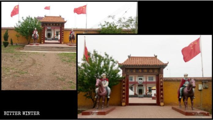<br> ▲河南省出現詭異「毛澤東廟」。(圖/截自寒冬)