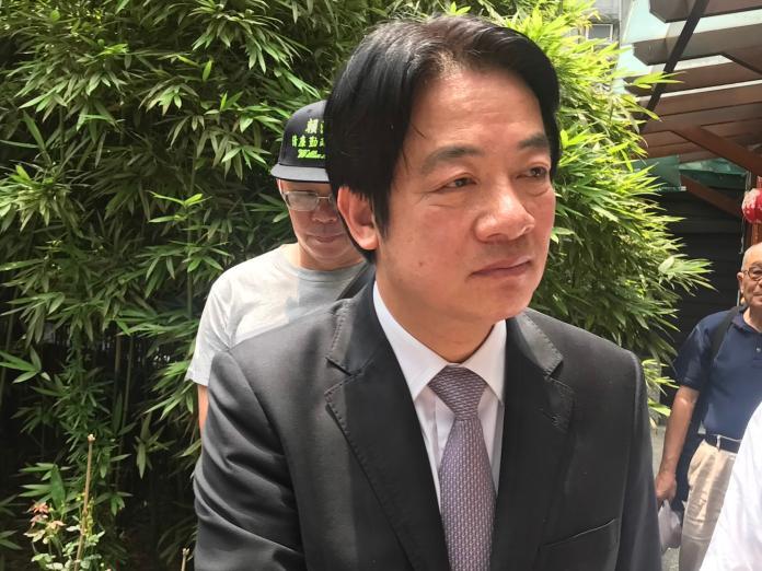 前行政院長賴清德13日表示,韓國瑜倡議的自經區「只有發大財」,質疑國民黨提自經區不過是為了選舉。(圖/記者林人芳攝,2019,05,13)