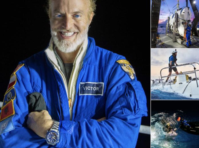 ▲美國探險家維斯科沃,花費近4個小時,完成從海面下潛10927公尺的壯舉。(圖/翻攝Science Channel推特)