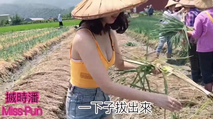 <br> ▲香港 YouTuber「Miss Pun」搣時潘,近日來到台灣玩啦!她和友人一同前往宜蘭體驗拔三星蔥、製作蔥油餅的過程。(圖/翻攝自 Youtube)