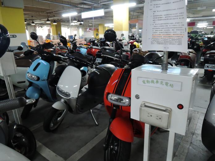 ▲新北市推動綠色交通,將再增設電動機車停車位。(圖/新北市交通局提供)