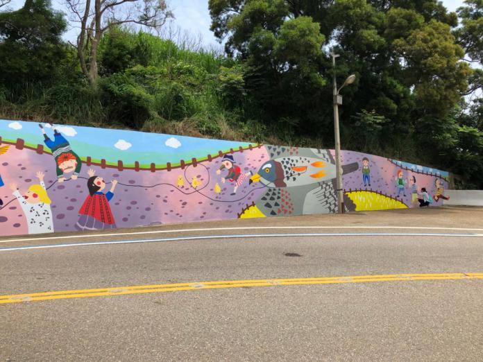 鐵砧山彩繪牆換新裝 成為拍照打卡熱點