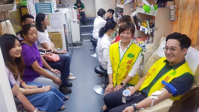 <br> ▲台灣電力公司彰化區處舉辦「熱血台電‧捐起來」活動。(圖/記者陳雅芳攝,2019.05.16)