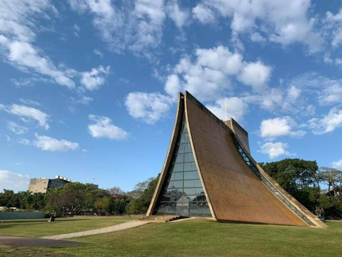 ▲東海大學路思義教堂是貝聿銘在台灣的代表作。(圖/翻攝東海大學官網)