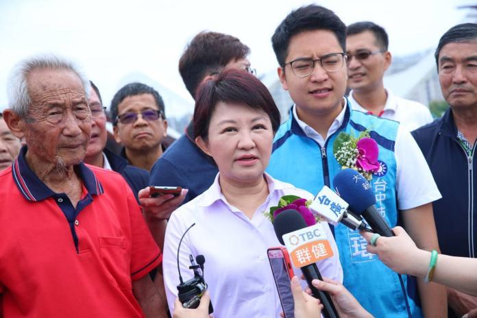 ▲市長盧秀燕表示,台灣是民主國家,過程中許多不同意見是理所當然的,不用太擔心。 (圖/柳榮俊攝2019.5.17)