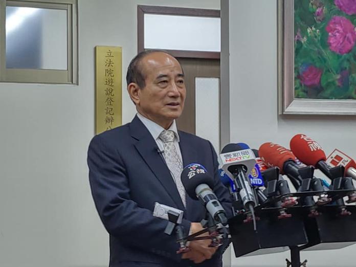 王金平表示跟柯文哲相談甚歡,但要跟韓見面可以晚一點。 (圖/Nownews資料照)