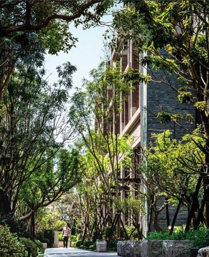 <br> ▲該建案千坪原生種植栽中庭,加上垂直綠化植生牆,為社區隔絕霧霾並提供乾淨好空氣。(圖/公關照片)