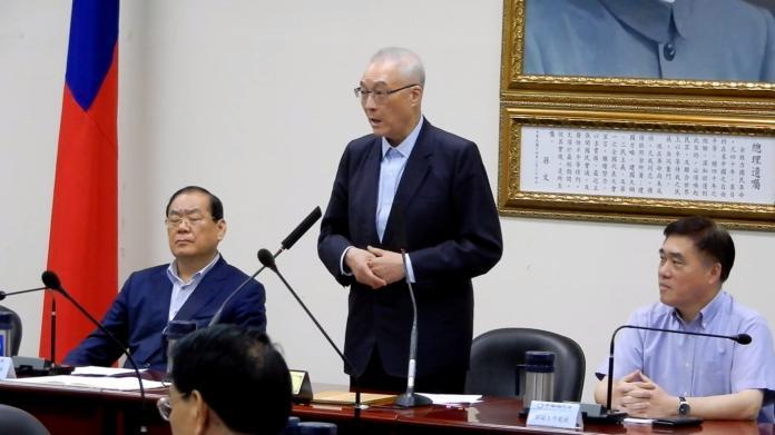 國民黨中常會22日將7名「跑票」支持同婚人權的立委送交調查是否撤銷立委提名。(圖 / 記者陳弘志攝)