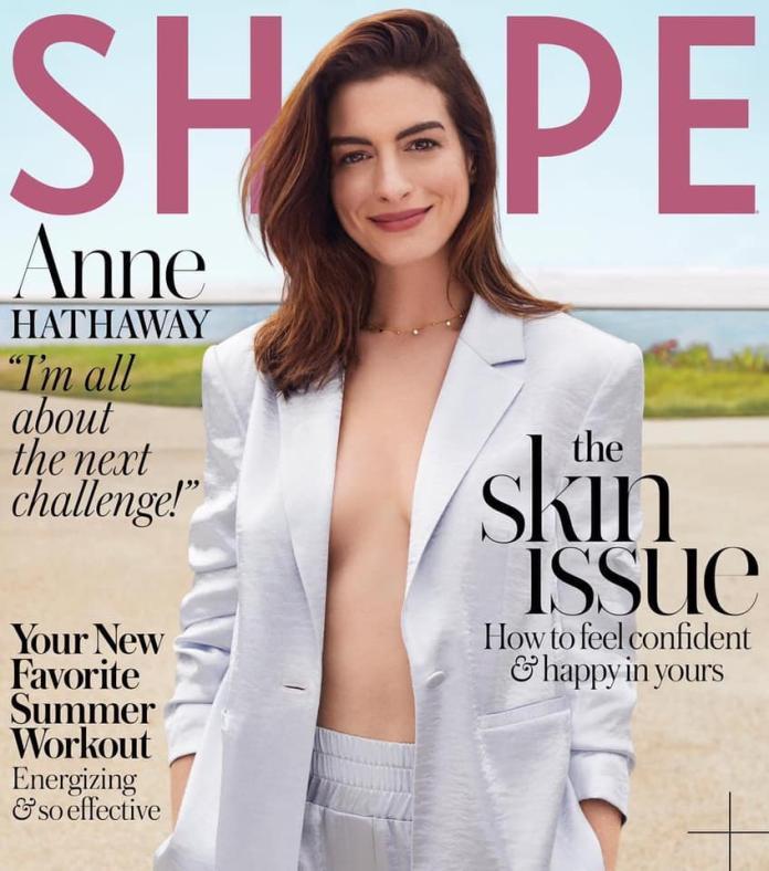 ▲安海瑟薇拍攝雜誌封面。(圖/Anne Hathaway臉書)